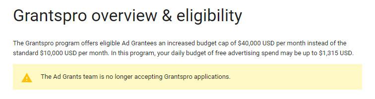 google grantspro